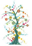 εορταστικό δέντρο διανυσματική απεικόνιση