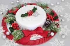 Εορταστικό κέικ Χριστουγέννων Στοκ Εικόνα