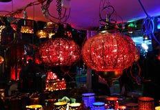Εορταστικό κατάστημα φω'των στοκ φωτογραφία με δικαίωμα ελεύθερης χρήσης