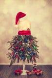 Εορταστικό μανεκέν Χριστουγέννων Στοκ εικόνα με δικαίωμα ελεύθερης χρήσης