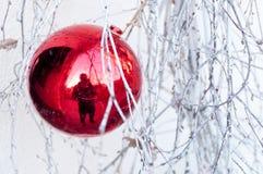 Εορταστικό μπιχλιμπίδι διακοσμήσεων Χριστουγέννων Στοκ Φωτογραφίες