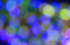 Εορταστικό μπλε και πράσινο υπόβαθρο με την επίδραση boke Στοκ Εικόνες