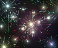 Εορταστικό νέο πυροτέχνημα έτους και Χριστουγέννων Στοκ Εικόνα