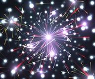 Εορταστικό νέο πυροτέχνημα έτους και Χριστουγέννων Στοκ Φωτογραφία