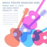 Εορταστικό πρότυπο αφισών μουσικής διακοπών ελεύθερη απεικόνιση δικαιώματος