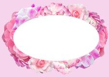 Εορταστικό πλαίσιο με τα τριαντάφυλλα Στοκ Εικόνες