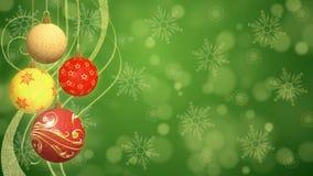 Εορταστικό υπόβαθρο σφαιρών Χριστουγέννων Στοκ εικόνα με δικαίωμα ελεύθερης χρήσης