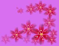 Εορταστικό υπόβαθρο των λουλουδιών διανυσματική απεικόνιση