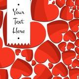 Εορταστικό υπόβαθρο των φωτεινών κόκκινων καρδιών Στοκ εικόνες με δικαίωμα ελεύθερης χρήσης