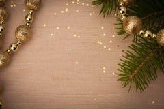 Εορταστικό υπόβαθρο Χριστουγέννων με το διάστημα αντιγράφων στοκ φωτογραφίες