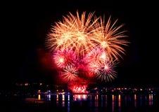 Εορταστικό φωτεινό πυροτέχνημα Στοκ Φωτογραφία