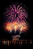 Εορταστικό φωτεινό πυροτέχνημα Στοκ Εικόνα