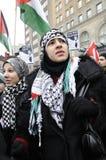 Επάγγελμα αντι-Ισραήλ της συνάθροισης του Γάζα. Στοκ Φωτογραφίες
