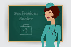 Επάγγελμα γιατρών επαγγέλματος επίσης corel σύρετε το διάνυσμα απεικόνισης διανυσματική απεικόνιση