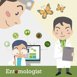 Επάγγελμα εντομολόγων Στοκ εικόνα με δικαίωμα ελεύθερης χρήσης