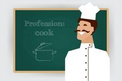 Επάγγελμα μαγείρων επαγγέλματος επίσης corel σύρετε το διάνυσμα απεικόνισης απεικόνιση αποθεμάτων