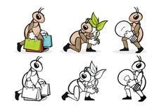 Επάγγελμα 9 μυρμηγκιών Στοκ Φωτογραφίες