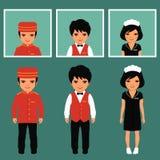 Επάγγελμα υπηρεσιών ξενοδοχείων απεικόνιση αποθεμάτων