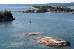 επάνω από τα καγιάκ αρκετά π&om Στοκ εικόνες με δικαίωμα ελεύθερης χρήσης
