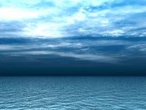 επάνω από τα κύματα thunderclouds απεικόνιση αποθεμάτων