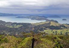 επάνω από τα νησιά Νέα Ζηλανδί&al Στοκ φωτογραφία με δικαίωμα ελεύθερης χρήσης