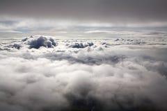 επάνω από τα σύννεφα Στοκ Εικόνα