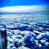 επάνω από τα σύννεφα Στοκ Φωτογραφία