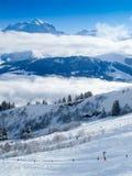 επάνω από τα σύννεφα blanc mont Στοκ Εικόνες