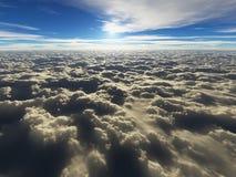 επάνω από τα σύννεφα cloudscape απεικόνιση αποθεμάτων