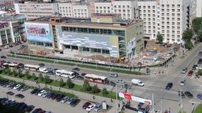 Επάνω από την άποψη του εμπορικού κέντρου κάτω από την κατασκευή φιλμ μικρού μήκους