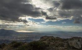 επάνω από την Αθήνα Στοκ Εικόνες