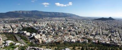 επάνω από την Αθήνα Στοκ Φωτογραφία