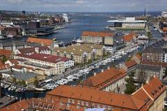 επάνω από την Κοπεγχάγη Δανί&a στοκ φωτογραφία