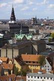 επάνω από την Κοπεγχάγη Δανί&a Στοκ Εικόνες