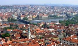 επάνω από την Πράγα Στοκ φωτογραφία με δικαίωμα ελεύθερης χρήσης
