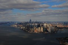 επάνω από την πόλη Νέα Υόρκη Στοκ εικόνες με δικαίωμα ελεύθερης χρήσης