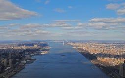 επάνω από την πόλη Νέα Υόρκη Στοκ Εικόνες