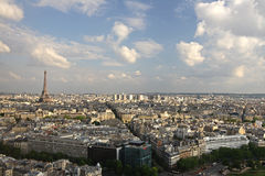 επάνω από την πόλη Παρίσι Στοκ Φωτογραφία