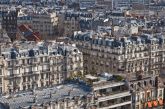 επάνω από την όψη του Παρισιού Στοκ Εικόνα