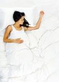 επάνω από τη γυναίκα ύπνου Στοκ Φωτογραφίες