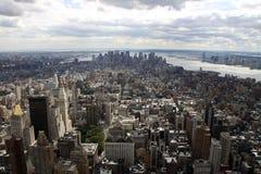 επάνω από τη Νέα Υόρκη Στοκ Φωτογραφίες
