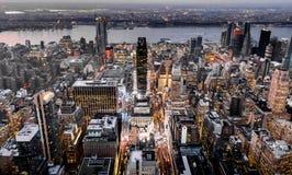 επάνω από τη Νέα Υόρκη Στοκ φωτογραφία με δικαίωμα ελεύθερης χρήσης
