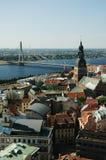 επάνω από τη Ρήγα Στοκ φωτογραφία με δικαίωμα ελεύθερης χρήσης