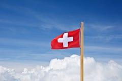 επάνω από τη σημαία Ελβετός & Στοκ φωτογραφία με δικαίωμα ελεύθερης χρήσης