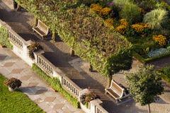 επάνω από τη σκηνή κήπων Στοκ εικόνα με δικαίωμα ελεύθερης χρήσης