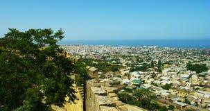 επάνω από τη derbent όψη πόλεων στοκ φωτογραφία