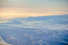 επάνω από το ηλιοβασίλεμα σύννεφων Στοκ φωτογραφίες με δικαίωμα ελεύθερης χρήσης
