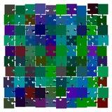 επάνω από το διάστημα γρίφων κομματιού τορνευτικών πριονιών χάσματος αντιγράφων Αποσυνδεμένος γρίφος Στοκ Φωτογραφία