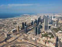 επάνω από το Ντουμπάι Στοκ φωτογραφία με δικαίωμα ελεύθερης χρήσης