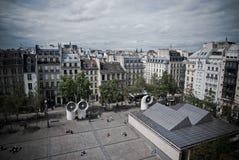 επάνω από το Παρίσι Στοκ Φωτογραφία